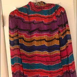 Adrianna Papell Silk Blouse in Jewel Tones size 8
